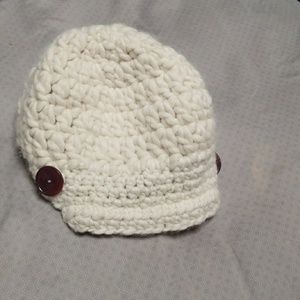 Accessories - Hand Knit Beenie with buttons