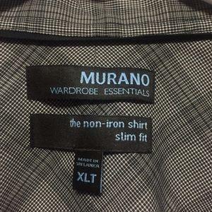 NWOT MURANO SLIM FIT NON IRON Grey Dress Shirt