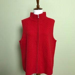 Pendleton Wool Vest, Red