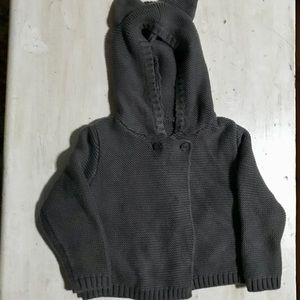 Bulky knit babyGap sweater. Size 18-24mos. grey