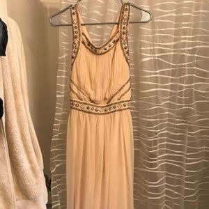 Long Champagne Formal/Prom Dress