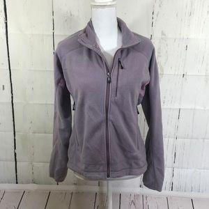 Patagonia lavender purple zip up fleece jacket