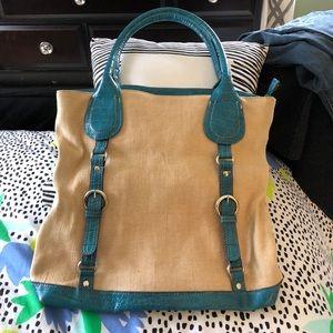Handbags - Emilie M blue and beige bag