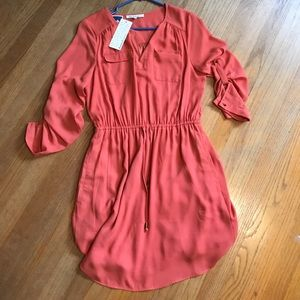 NWT Daniel rainn Orange 3/4 sleeve dress