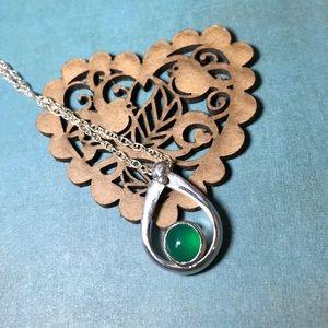 CBL Jewelry - Stunning green chalcedony sterling silver ring