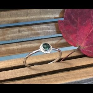 Rare Maine Tourmaline and sterling silver ring
