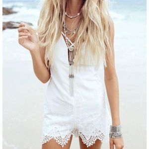 NWT Sabo Skirt White Kaya Playsuit