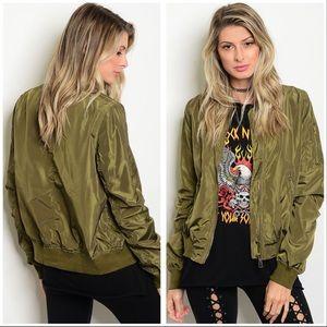 Jackets & Blazers - ❤️Just arrived - olive bomber style jacket❤️