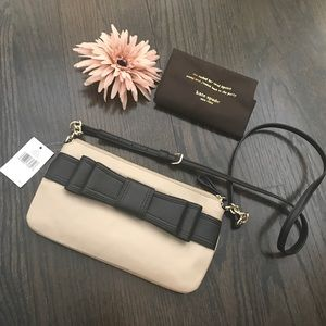 Kate Spade Celina Black & Beige Bow Crossbody Bag