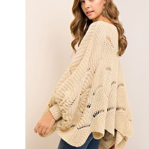 🆕Reese Cream Slouchy Oversized Loose Knit Sweater