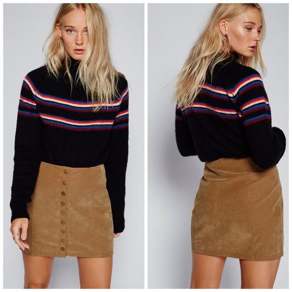 3dfbb7753 Free People Skirts | Oh Snap Vegan Leather Mini Skirt | Poshmark