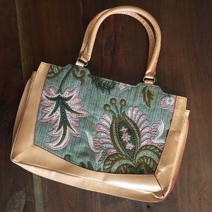 Paul & Joe Leather Tapestry Bag