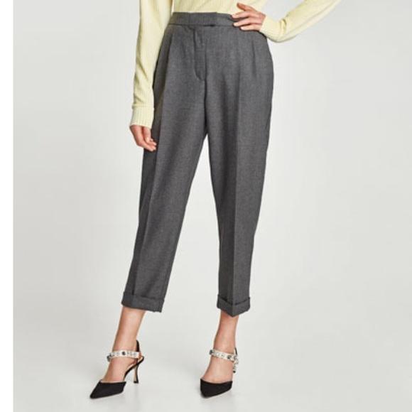 e4e8672c NWOT Zara Woman Darted Black Trousers. M_59f22b7241b4e0c14601e22d