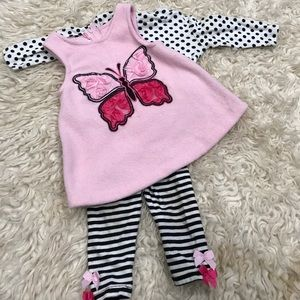 Bonnie baby pink butterfly outfit