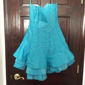 💙💙💙 Short and Sassy Turquoise Prom Dress