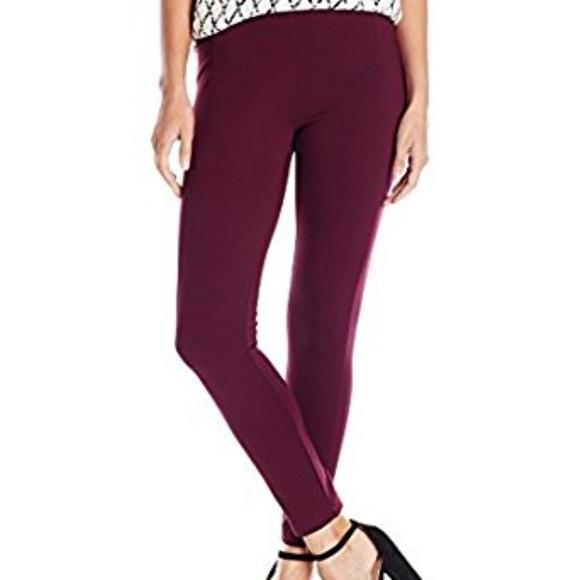 d5b991b27731a Ivanka Trump Pants | Nwt Compression Leggings In Wine | Poshmark