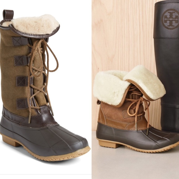 9e777b45f Tory Burch    Argyll Leather Shearling LaceUp Boot.  M 59f231de4225be6d340209e9