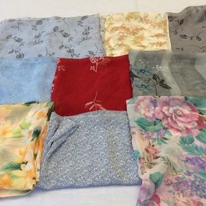 Accessories - 9 floral scarves. Hawaii scarf Paisley scarves