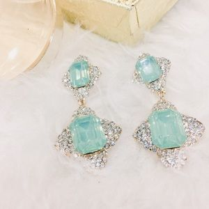 Jewelry - Stunning Aquarium & Crystal Earrings