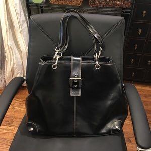 Leatherbag w/ computer bag