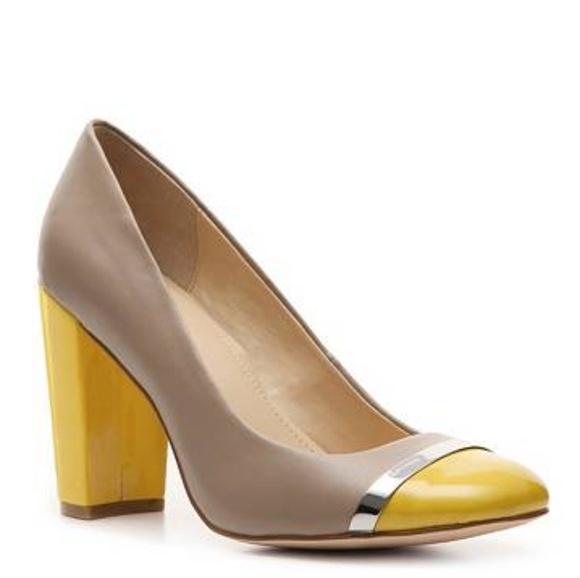 e43f1f828f6bc Calvin Klein Shoes - CALVIN KLEIN • Blaine color block nude/yellow heel