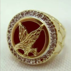 Other - 10k Yellow Gold Ring Gold Eagle Black Onyx