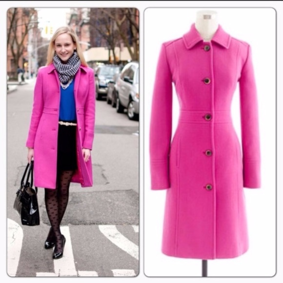 273af752d J Crew Italian double-cloth wool lady day coat
