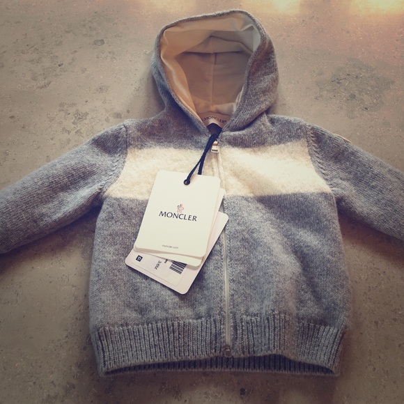 beeed7636 Hooded Moncler baby sweater