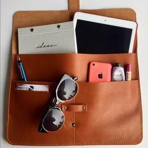 Accessories - Guine Leather Portfolio Bag for laptop or Tablet
