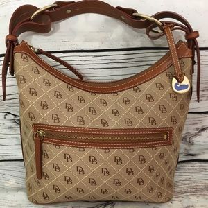 Dooney & Bourke Classic Fabric & Leather Trim Bag