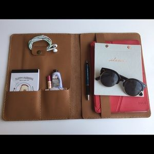 Accessories - Genuine Leather Portfolio Bag for Laptop Tablet