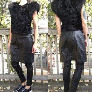 TROUVÉ genuine leather skirt