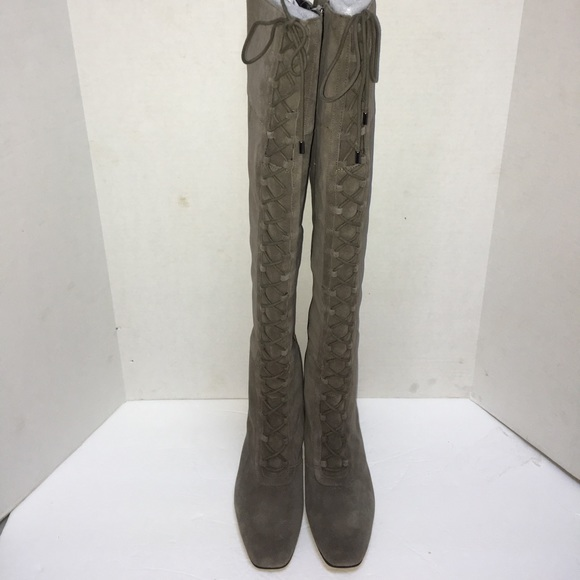546e5c318a7 New Franco Sarto Gray Tall Lace Up Boots