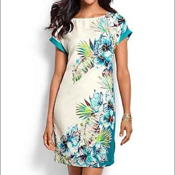 1aecbbb35092 NWT Tommy Bahama Hibiscus Fern Dress Silk blend