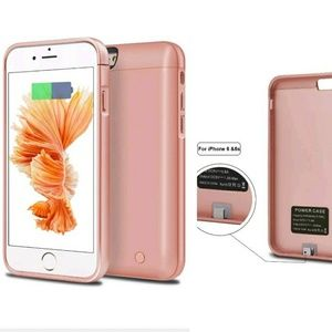 Accessories - IPhone 6/6s battery case 5000 mAh rose gold
