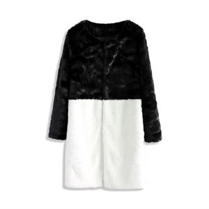 NWT Chicwish two toned faux fur black white coat