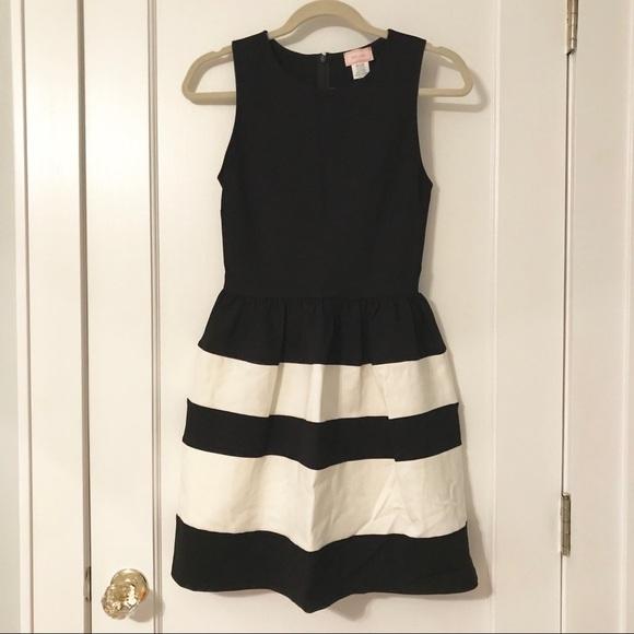 Black \u0026 White Striped Dress