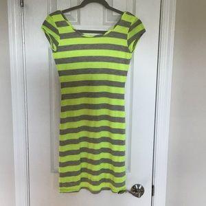 Nordstrom BP fluorescent yellow/gray dress