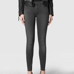 All saints grey Ashby jeans