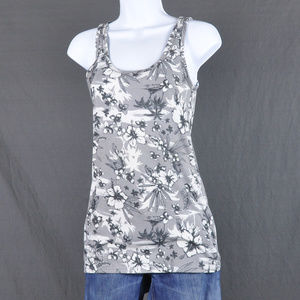 SO Hawaiian Floral Grey Tank Sz: M