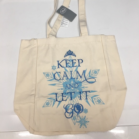c9b5b854d71 NEW Disney Store FROZEN Tote Bag Shopper Canvas