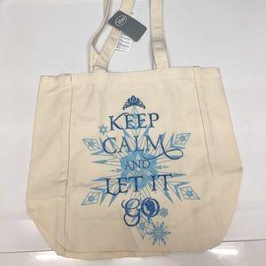 NEW Disney Store FROZEN Tote Bag Shopper Canvas