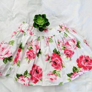 Gilly Hicks White Floral Skirt