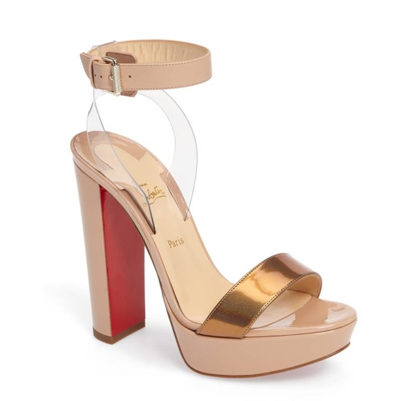 5107087715f Christian Louboutin Cherry 140mm Nude Sandals