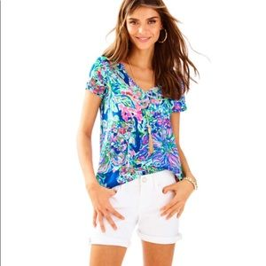 Lilly Pulitzer South Ocean White Shorts