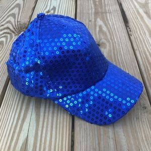 Accessories - Womens Cap Sparkle Disco Party Hat Sequined Blue