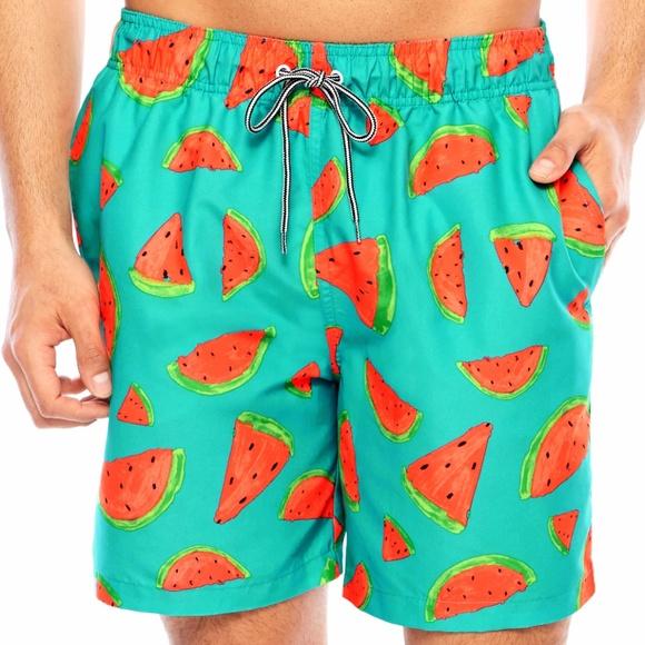 923c4f627f9f6 Arizona Jean Company Swim | Nwt Mens Arizona Watermelon Print Trunks ...