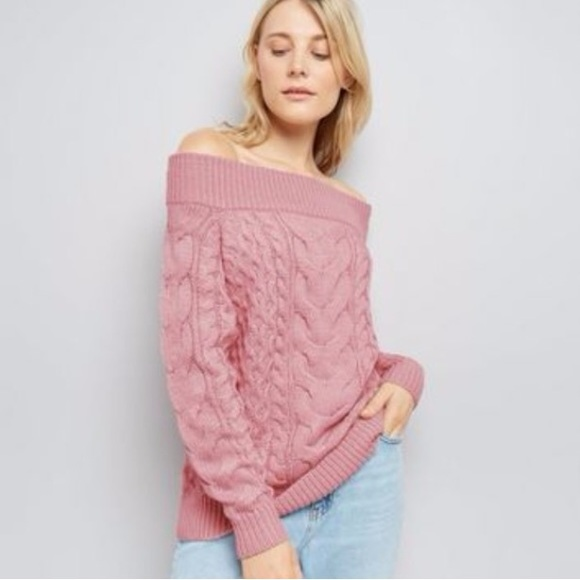 356197af8f80f1 H&M Sweaters | Light Salmon Pink Slouchy Cable Knit Jumper | Poshmark