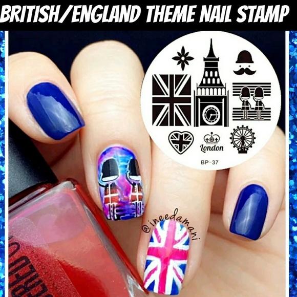 Other | Britishengland Flag Theme Nail Art Stamp Plate | Poshmark