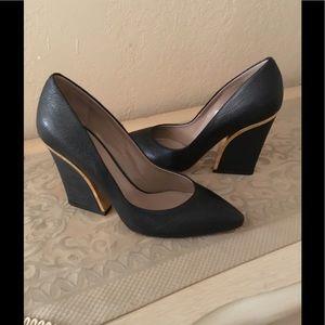 Chloe beckie pumps leather black sz.39 $220